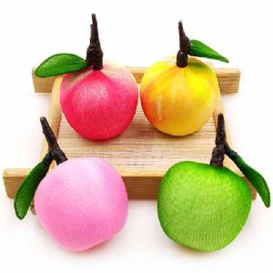 Handmade nylon product Set of materials, Apple, 2.8cm x 4cm, 4g, [XS085]
